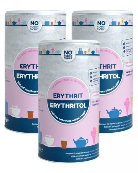3 x Erythrit, 1 kg