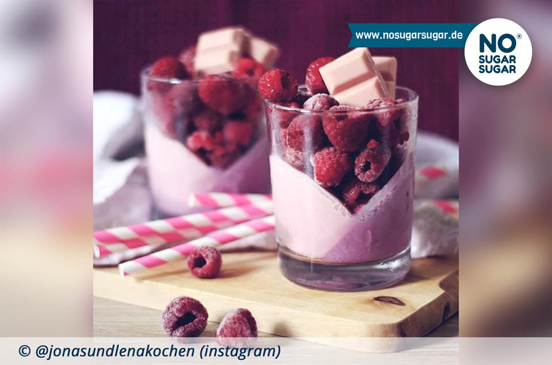 Himbeer-Vanille-Parfait
