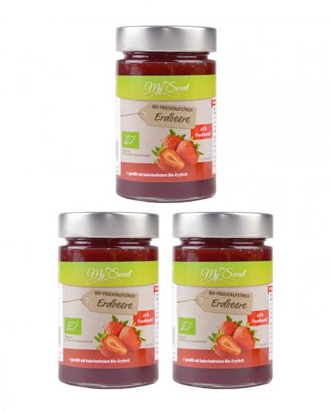 3er Pack My Sweet Bio-Fruchtaufstrich Erdbeere je 1 x 225g
