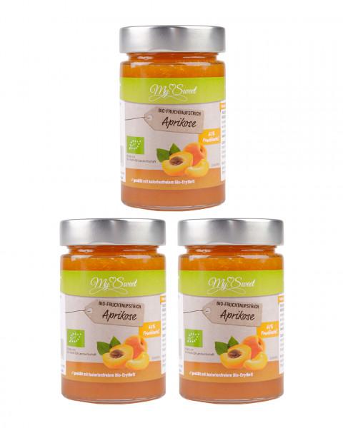 3er Pack My Sweet Bio-Fruchtaufstrich Aprikose, je 1 x 225g
