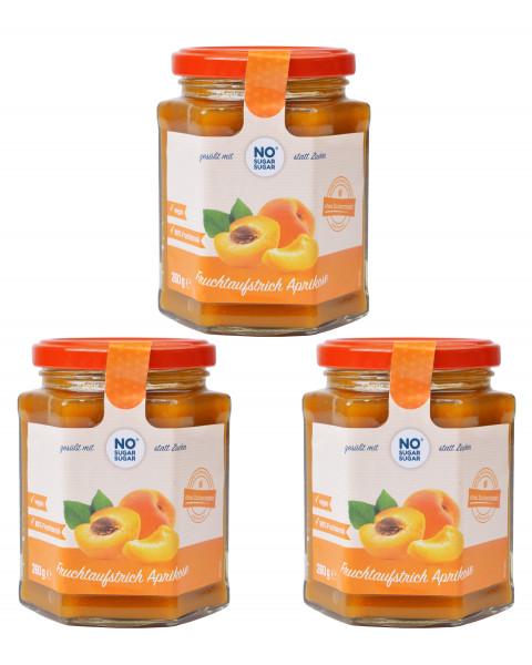 3 x Fruchtaufstrich Aprikose, 260g