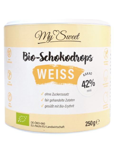 My Sweet Bio-Schokodrops Weiß, 250g