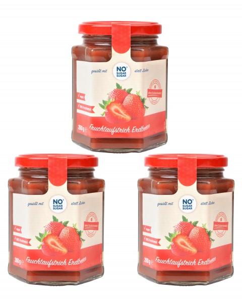 3 x Fruchtaufstrich Erdbeere, 260g