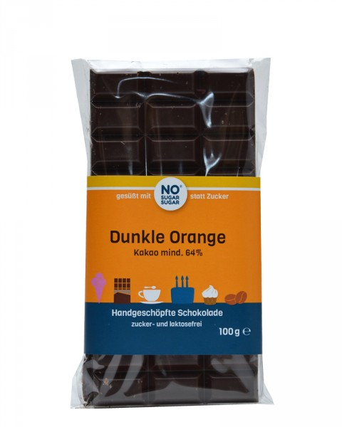 Dunkle Orange Schokolade
