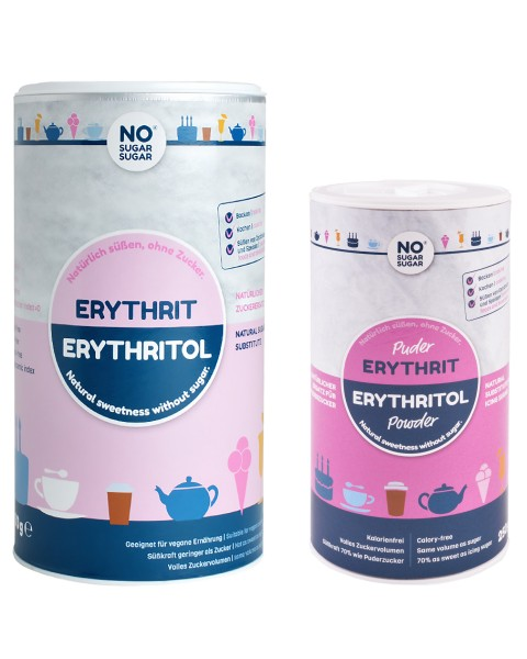 Set: Erythrit, 1 kg + Erythrit Puder, 250g