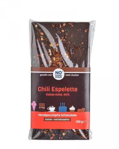 Chili Espelette Schokolade, 100g