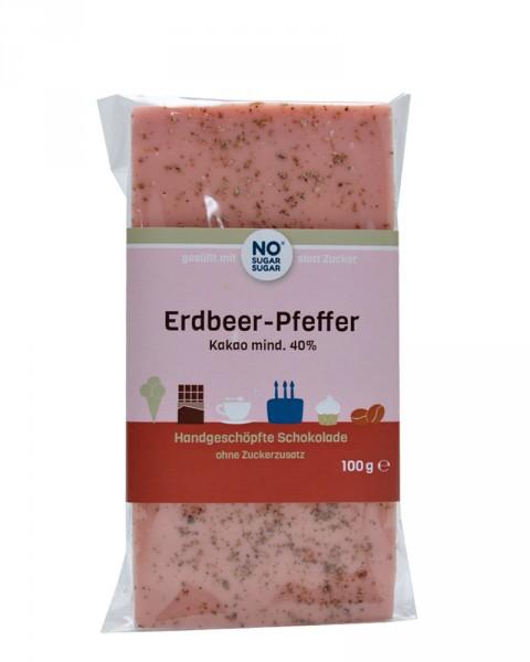 Erdbeer-Pfeffer Schokolade